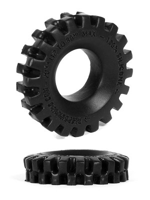 Burning Wheels 100% Silicone Cockring CK05 Noir