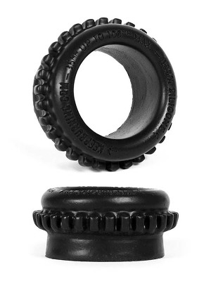 Burning Wheels 100% Silicone Cockring CK09 Noir