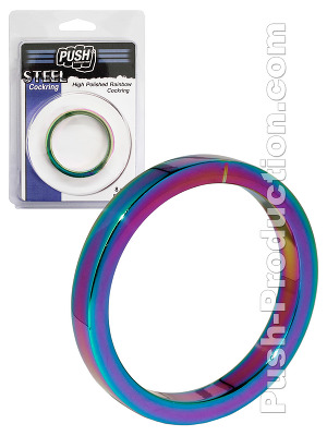 Cockring 8 mm High Polished Rainbow - Push Steel