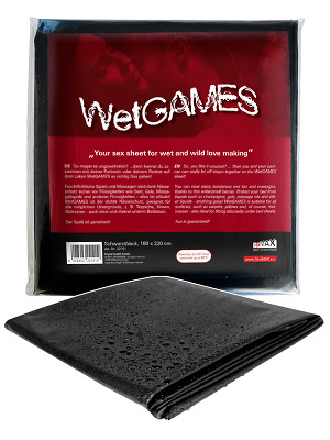 Drap imperméble Wet Games Sex noir de 180 sur 220 cm