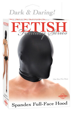 Fetish Fantasy - Spandex Full Face Hood Black