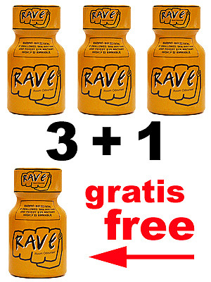 Pack Poppers Rave 3 + 1 gratuit