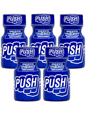 Poppers Push 9 ml - pack de 5