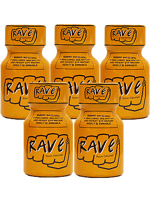 Poppers Rave 9 ml - Pack de 5