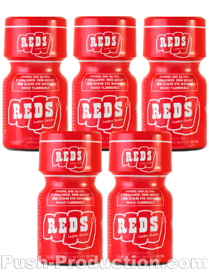 Poppers Reds 9 ml - pack de 5