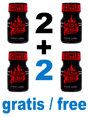 Poppers Rush Ultra Strong Black Label 2 + 2 gratuits
