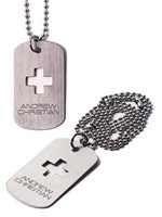 Andrew Christian - Collier Dog Tag Designer