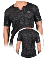 Andrew Christian - T-shirt Slick Clip Burnout - Noir
