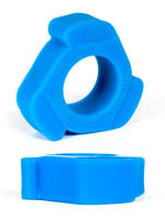 Burning Wheels 100% Silicone Cockring CK10 Bleu