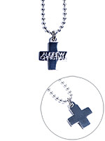 Collier argent Cross - Andrew Christian