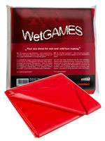 Drap imperméble Wet Games Sex rouge de 180 sur 220 cm
