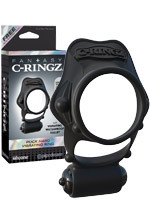 Fantasy C-Ringz - Cockring Rock Hard Vibrating Black