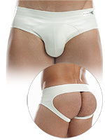 Modus Vivendi - Jockstrap Leather blanc