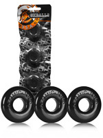 Pack de 3 cockrings noirs Ringer - Oxballs