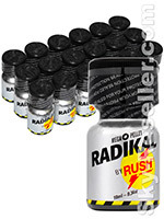 Poppers Radikal Rush 10 ml - pack de 18