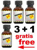 Poppers Radikal Rush 4 x 30 ml