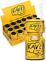 Poppers Rave 10 ml - Pack de 18