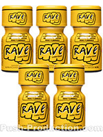 Poppers Rave 10 ml - Pack de 5