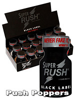 Poppers Super Rush Black Label 10 ml - pack de 18
