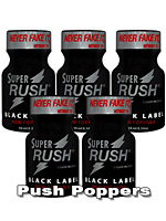 Poppers Super Rush Black Label 10 ml - pack de 5