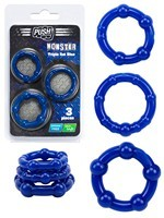 Push Monster - Triple Set Blue Cockrings