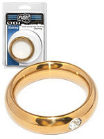 Push Steel - Cockring Golden Diamond Heavy Duty Donut