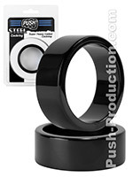 Push Steel - Cockring Super Heavy Caliber Black