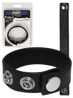 Push Xtreme Leather - Cock & Ball Strap Las Vegas Small