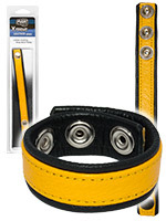 Push Xtreme Leather - Cockring en cuir jaune
