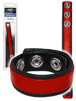 Push Xtreme Leather - Cockring en cuir rouge