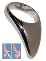 Stainless Steel Teardrop Cock Ring - 55mm