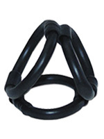 Tri Ring Cock Cage - noir
